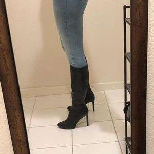 Nine West Womens Quizme Leather Knee High Boot